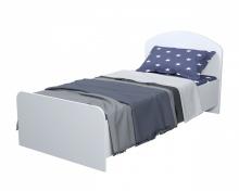 Кровать коллекции Юниор-2 (Умка-8) серебро+белый