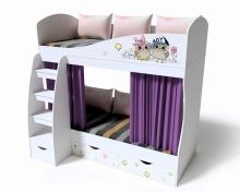 Кровать 2-х ярусная Совята