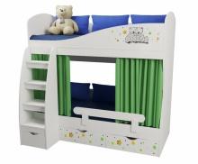 Кровать 2-х ярусная Звездный Тедди