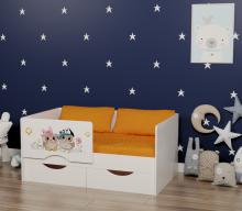 Кровать Малютка Совята (правая/левая)