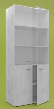 Шкаф со стекл.дверцами RC-1905C (рамух белый)