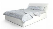 Кровать Валентино (экокожа цвет белый)