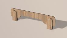 Бортик ширина 100 см (дуб сонома)