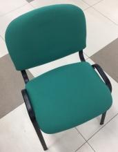 Стул Виси (каркас черный, ткань зеленая)