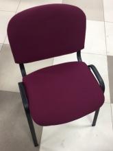 Стул Виси (каркас черный, ткань бордовая)