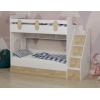 Кровать Юниор-3 (корпус белый) правая/левая