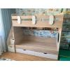 Кровать Юниор (дуб сонома+белый) прав/лев