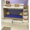 Кровать коллекции Мозаика (вяз щвейцарский+белый) правая/левая