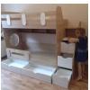 Кровать Юниор (дуб сонома+белый) правая/левая