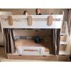 Кровать Юниор (корпус белый+фасады дуб сонома)