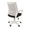 Кресло РК16 белый пластик, спинкаTW серый/сиденье TW серый