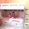Кровать 2-х ярусная Юниор (цвет белый)